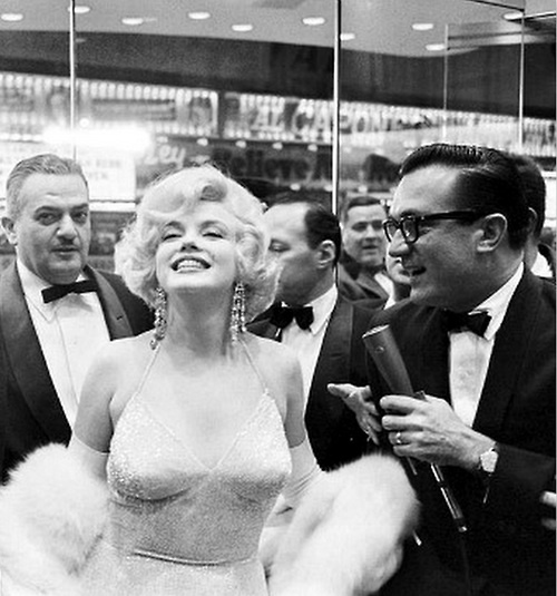 attending the premiere of Some Like it Hot, 1959