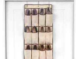 Organizador de sapatos para porta - 12 divisórias