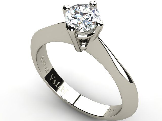 White Gold Solitaire Diamond Ring 0.60 ct - Paul Jewelry