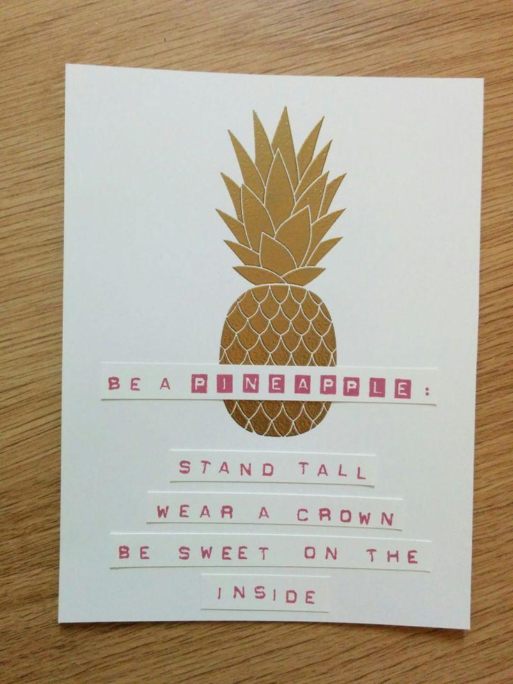 Be A Pineapple - Het Knutsellab - Stampin Up #stampinup #crafts #knutselen #stempelen