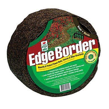 """Easy Gardener EB60845-6 Perma Mulch 4.5"""" x 8' Edge Border, Brown (1 Pack) by Easy Gardener. $23.99. Easy Gardener EB60845-6 Perma Mulch 4.5"""" x 8' Edge Border, Brown Easy Gardener EB60845-6 Perma Mulch 4.5"""" x 8' Edge Border, Brown Features: Edge border Easy and attractive trim edge and mow zone Use under fence lines, along sidewalks and garden beds Can create curves Blocks weed and grass Brown Dimensions: 4.5"""" x 8'"""