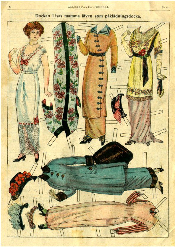 Antique paper dolls --- the Downton Abbey look....this would make a neat 3d framed art piece...lovely as a series