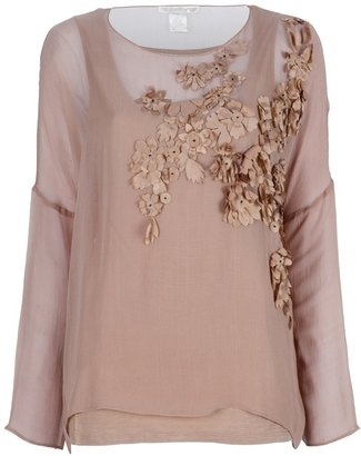 Brown silk top from Gold Hawk featuring a long vest under layer and a long sleeved top layer. Click the link http://bit.ly/HEq1YG and don't forget to get your free Divalicious mobile app for your smartphone today. Buy and share from 300 of the hottest brands http://bit.ly/xl0JTv