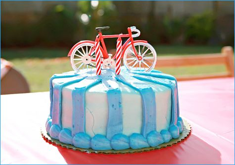 Bicycle Party-cake