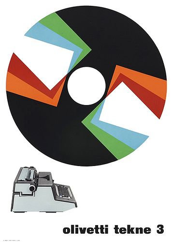 designed by Giovanni Pintori for the Olivetti Tekne 3 - 1964