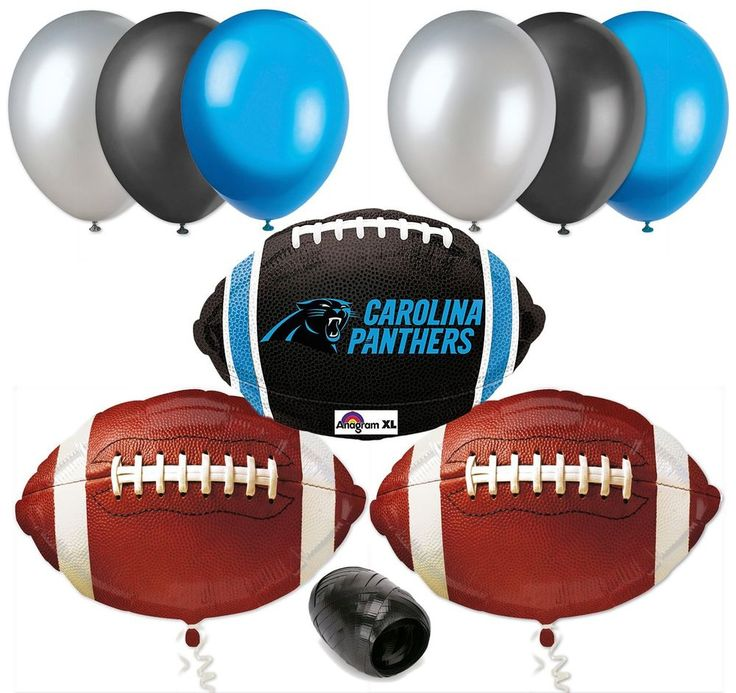Super Bowl NFL Carolina Panthers Fans Football Party Decor Kit 10Pc Balloons  #VeilEntertainment