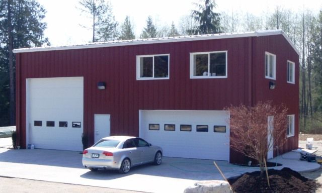 Steel buildings with living quarters recreational for Workshop with living quarters