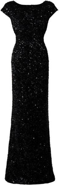 Sequin Cap Sleeve Gown - Lyst