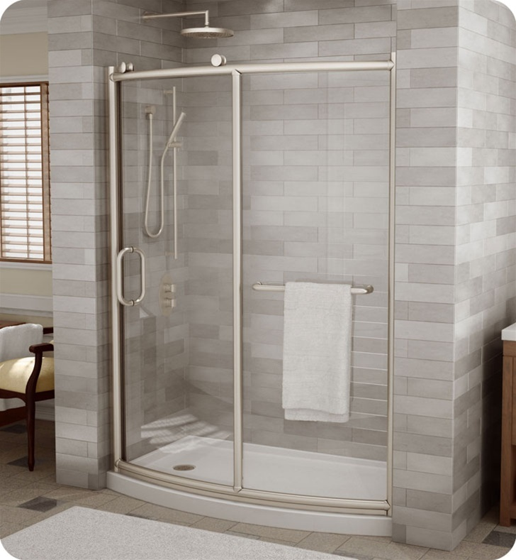 Fleurco Roma Bowfront Curved Door and Panel Smooth ball bearing roller system Shower Door height Glass Tempered with polished edges in clear glass or ... & 13 best ROMA SHOWER DOORS BY FLEURCO images on Pinterest pezcame.com