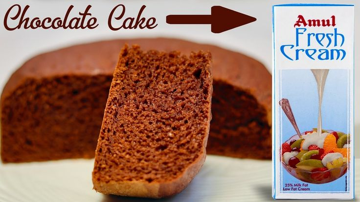 How To Make Chocolate Cake From Cream In Pressure Cooker– Eggless Cream ...