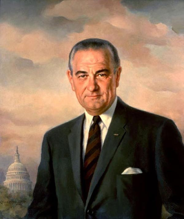 Portrait of Lyndon B. Johnson, 35th President of the United States (1968) by Elizabeth Shoumatoff
