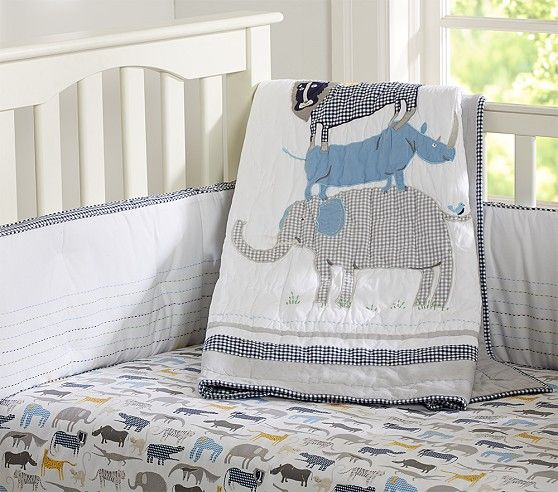 Safari Friends Nursery Bedding Pottery Barn Kids Baby