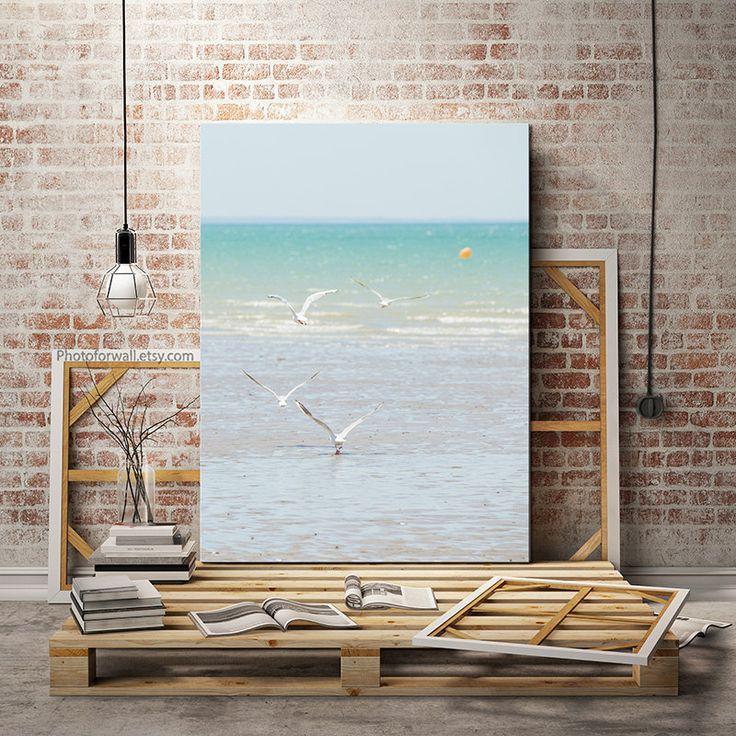 nautical decor beach photography minimalist seagull large canvas artlarge wall