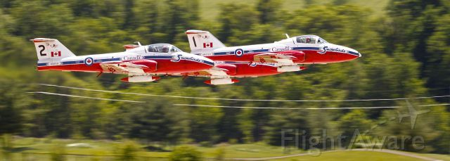 Canadian Snowbirds taking off at the Spirit of St Louis Air Show