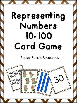 Use this number Match card game to reinforce the outcomes of Number in your curriculum. Students count by 5 and 10 up to 100 and the numbers are represented with tally marks, dice, place value blocks, digits, and fingers. A great addition to your