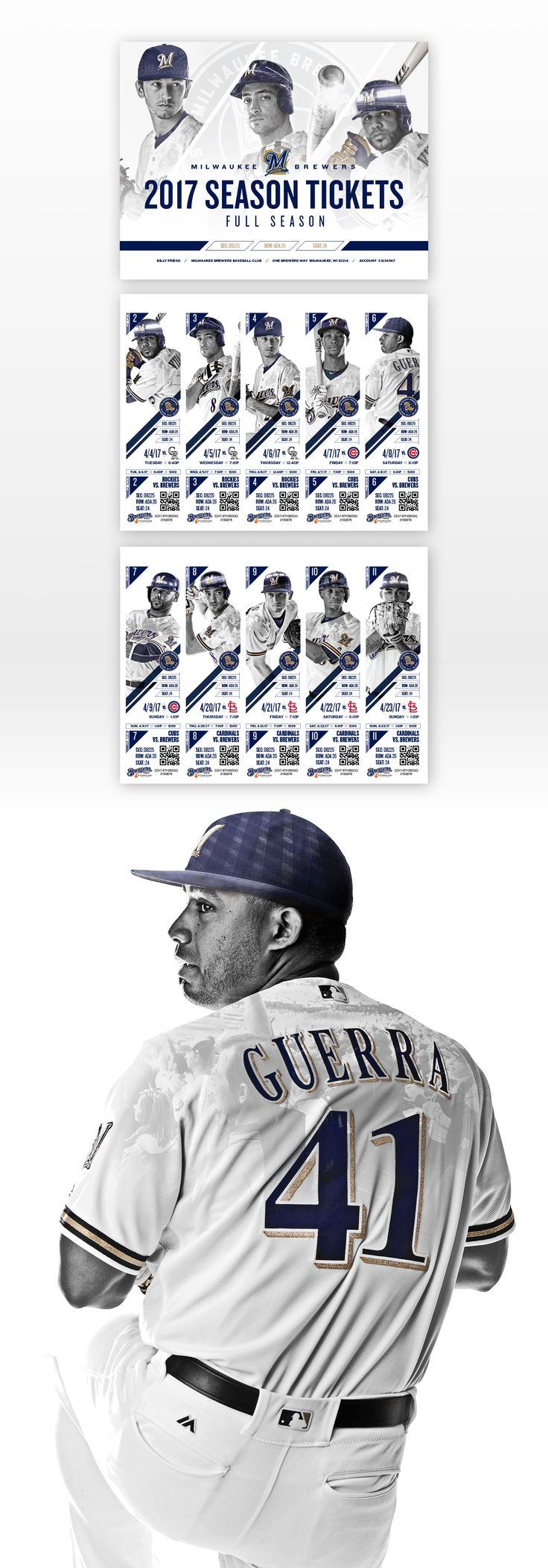 Milwaukee Brewers 2017 Season Tickets & Parking Passes on Behance