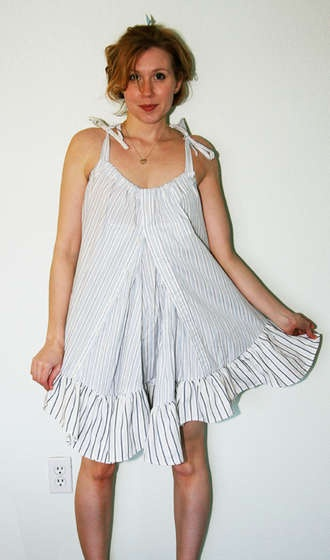 Babydoll nightgown from men's shirts... gotta go to Goodwill!!!
