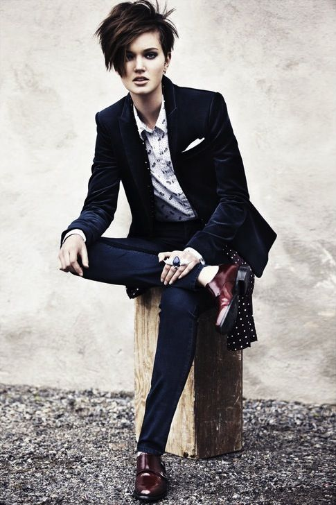androgynous style + suits + women - Google Search