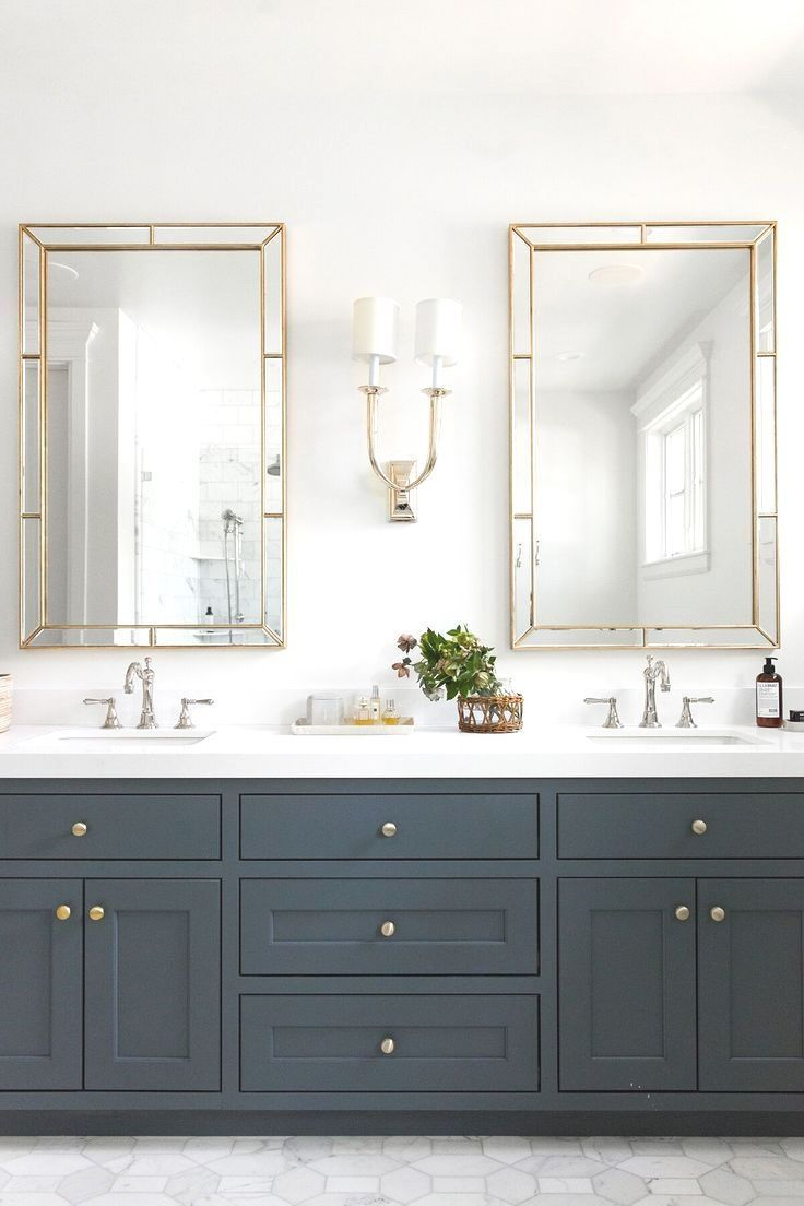 Wayfair Bathroom Vanity >> Bathroom Design Trends 2019 for Best ROI | White bathroom accessories, Gold bathroom, Double ...