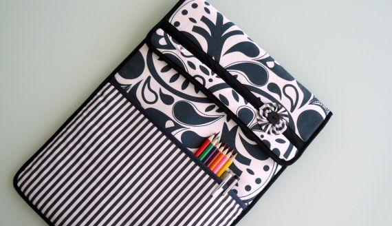 Funda para ordenador blanco y negro bolsos y carteras - Fundas para bolsos ...