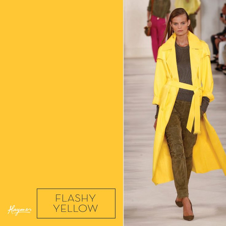 Inspired by the New York Fashion Week runway, make your own style statement with Haymes Flashy yellow.