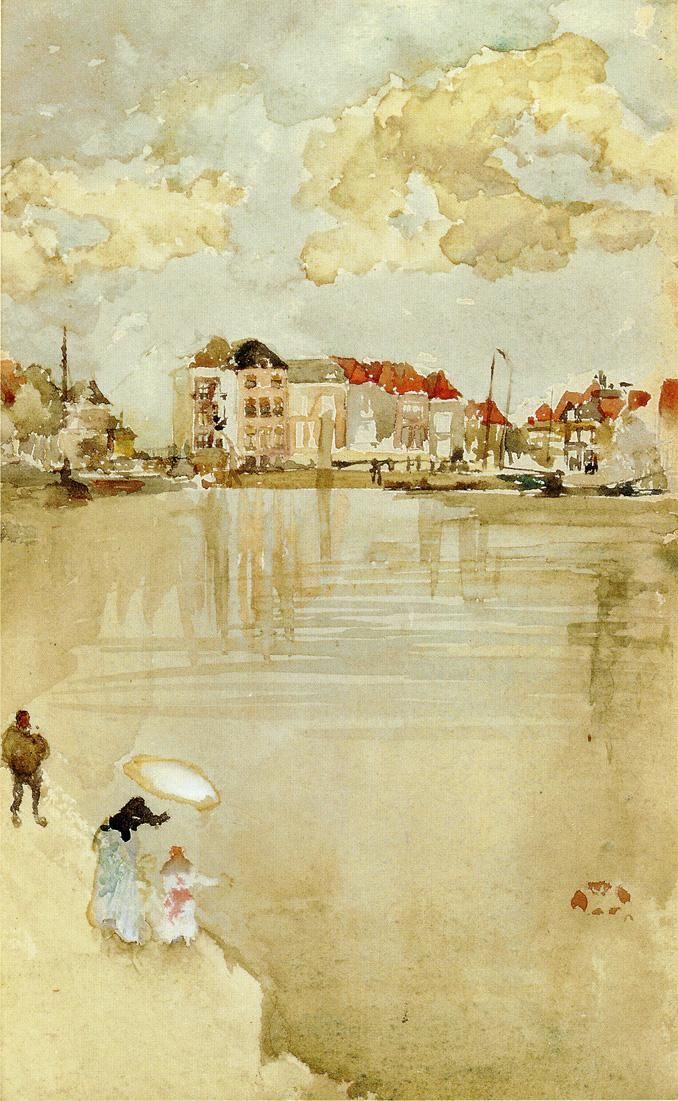 Whistler, Note in Gold and Silver - Dordrecht, 1884