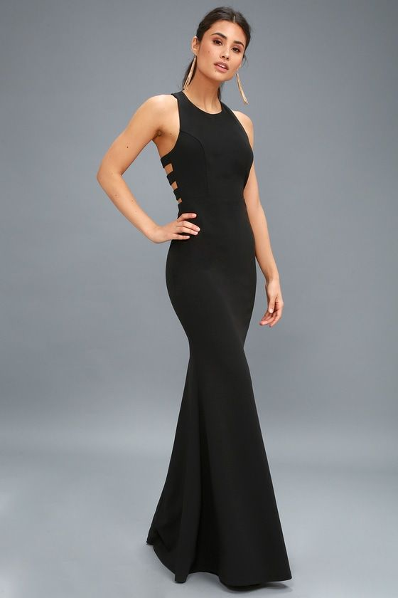 8b65c98f18d Set your sights on looking stunning with the Power of Wow Black Backless Maxi  Dress! This sexy gown is sure to turn heads with its strappy