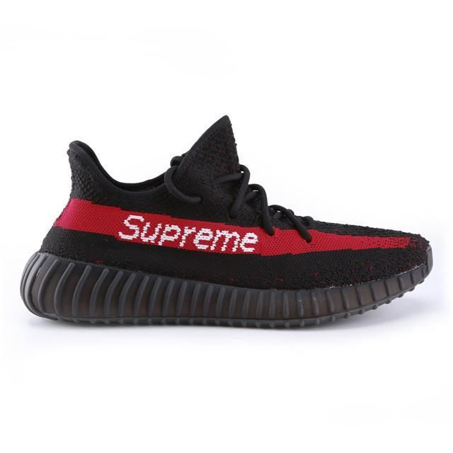 huge discount 8a837 7cc6c Authentic Supreme X Adidas Yeezy Boost 350 V2 Black Red Men – Sneaker-CEO