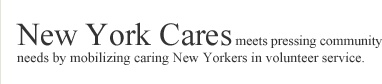 New York Cares- one of the best things in NYC.  Become a volunteer with them and you can do anything from serving in a soup kitchen, arts and crafts with blind people, gardening, to riding horses with mentally handicapped kids.  I can't recommend this organization enough.
