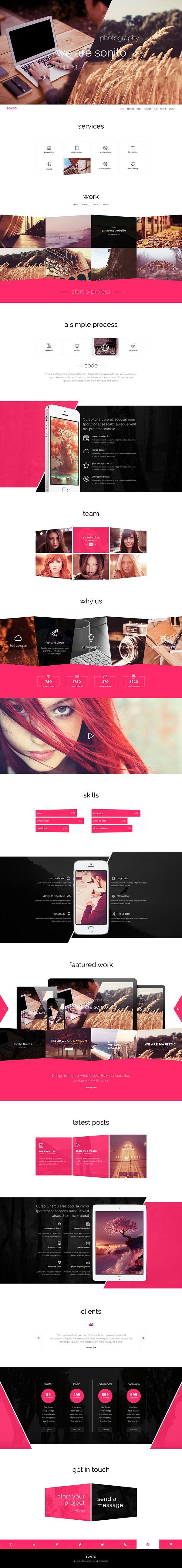 Sonito Web Theme on Behance