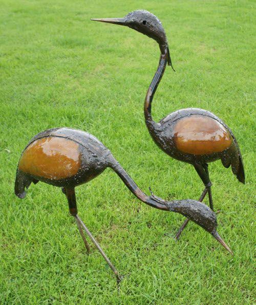U201cCharlie And Camilliau201d Pretty Brown Cranes : Black Country Metalworks Ltd. Garden  StatuesGarden SculpturesMetal ...