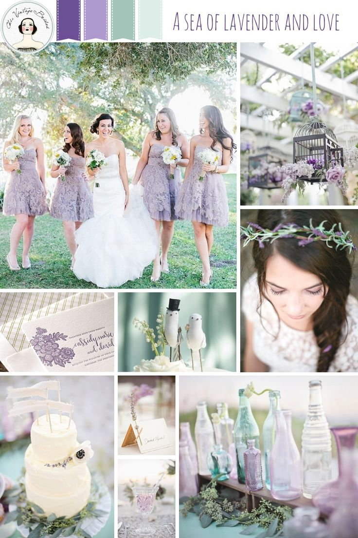 Spring Wedding Inspiration - A Sea of Lavender & Love - ideas for a romantic wedding in shades of lavender and sea foam