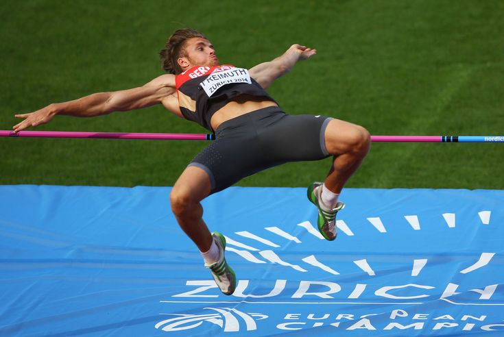 Rico Freimuth of Germany competes in the Men's Decathlon High Jump during day one of the 22nd European Athletics Championships at Stadium Letzigrund on August 12, 2014 in Zurich, Switzerland.