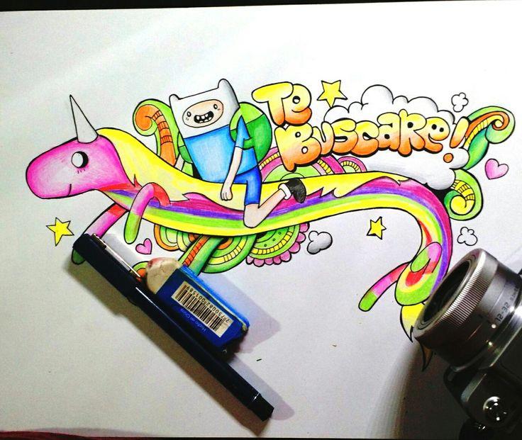 Te buscaré donde quieras que estés #well #wellintencion #draw #paint #adventuretime #sketch #colour #rainbow #princess