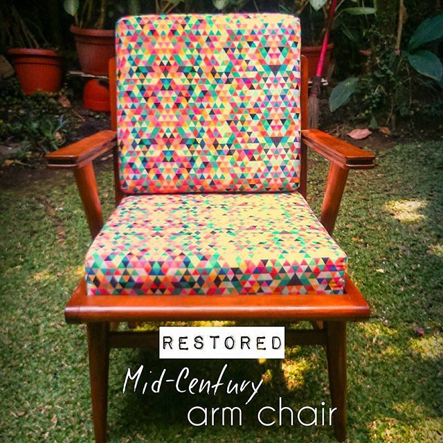 "For sale! Meet  my ""Monster"" #homeliving  #urbandecor #decor #hipfurniture #furniture #antique #modern #restored #chairs #midcenturymodern #scandinavian #kursiteras #kursiantik #jengkivintage #vintage #vintagefurniture #retro #retrofurniture #vintagedecor #vintageinterior #urban #jualvintagestuff #jualanvintagedecor #jualkursi #upholstered #upholstery #kursi #teakwood #jati #kursijati"