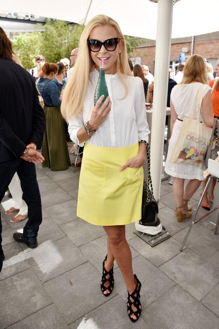 Jenny Elvers mit evian beim Gala Fashion Brunch im Juli 2016 © Clemens Bilan