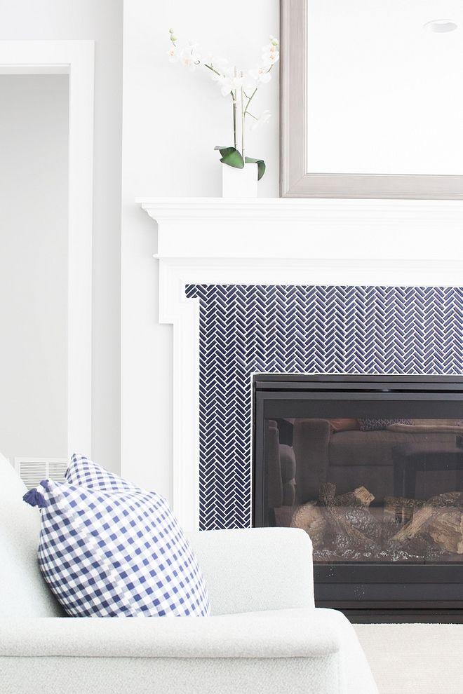 Family Home With White And Grey Interiors Home Bunch Interior Design Ideas Fireplace Surrounds Herringbone Fireplace Fireplace Tile