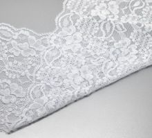 """5 Yards White Embroidered Stretch Lace Edge Trim Fabric Ribbon Wedding DIY Hand Craft Home Party Decorations 5-7/8"""" wide 1PC(China (Mainland))"""