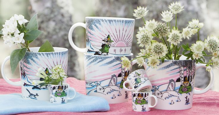 Mug #84 – Spring winter Produced: 2017 Illustrated by Tove Slotte and manufactured in Thailand by Arabia. The original artwork can...