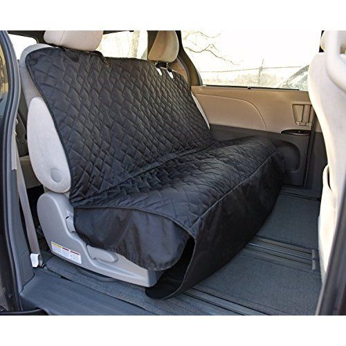 Dog Rear Car Seat Cover, Kolis Non-Slip & Waterproof Oxford Material for Pet Rear Seat Cover Protector Hammock Adjustable Dog Cat Safety Travel Blanket Mat Cover for Car Truck SUV-Beige