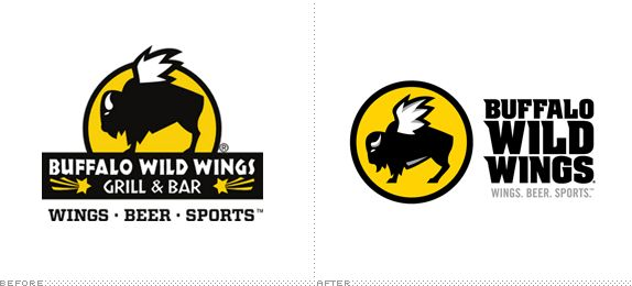 Buffalo Wild Wings Logo, Before and After