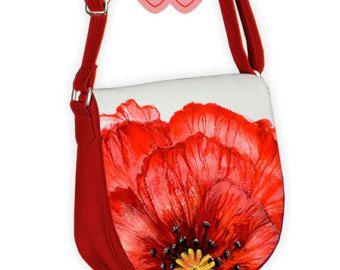 Красочные сумки, современная сумка, синие цветы на сумке, Яркая сумка, сумка с цветами, цветы на сумке, пионы на сумке, маки на сумке