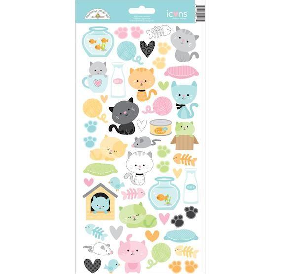 Doodlebug Kitten Stickers