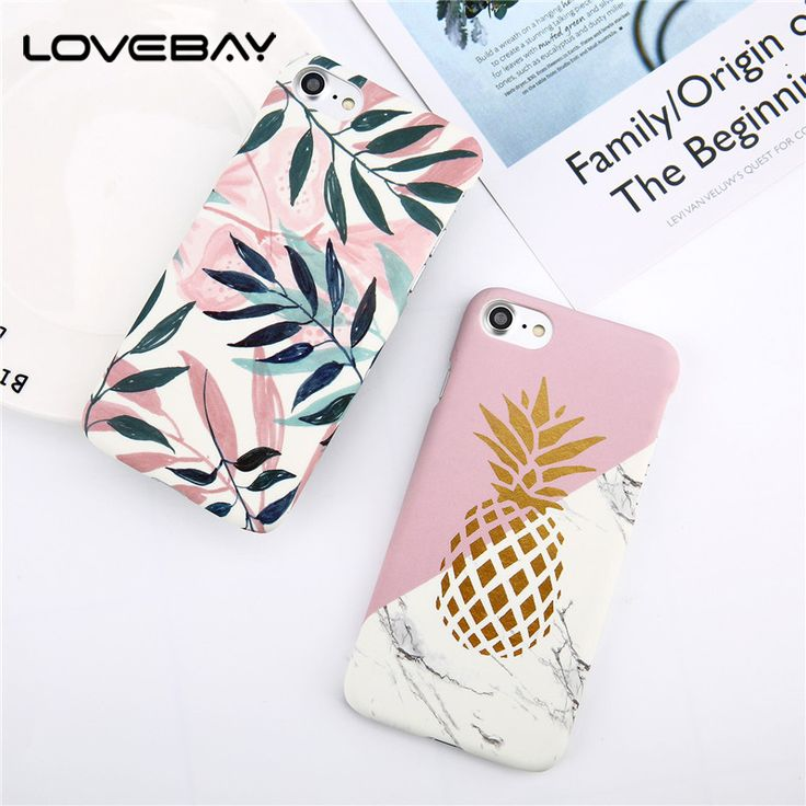LOVEBAY Phone Case For iPhone 8 7 6 6s Plus Fashion Cartoon Leaf Pineapple Colorful Geometry Hard Back Cover Case For iPhone 8  Price: 1.37 USD