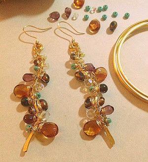 Passo a passo de brincos que parecem jóias!   Como Criar Bijuterias – Montagem de Bijuterias: Como Fazer e Vender, Passo-a-Passo, Idéias e Muito mais.