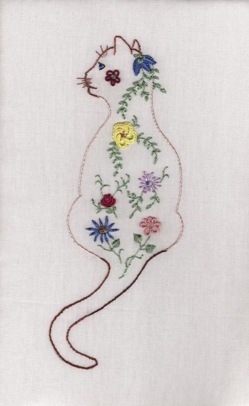 Proud Cat Brazilian Embroidery