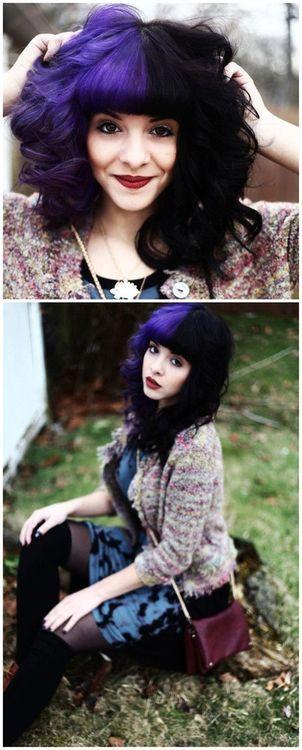 Purple/Black hair love it!!! melanie martinez