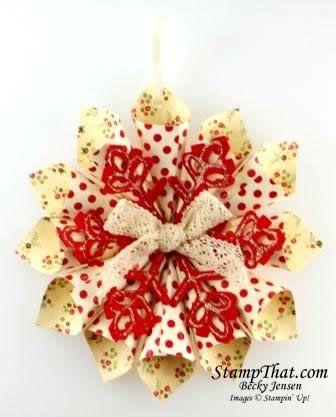 SU! Holly Berry Bouquet Handmade Christmas Ornament