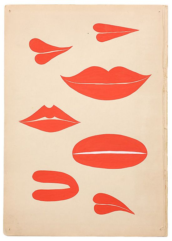 red lips // margaret kilgallen