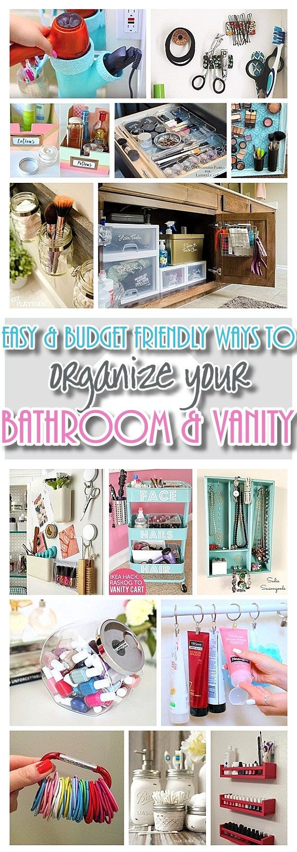 inexpensive do it yourself ways to organize and decorate your bathroom